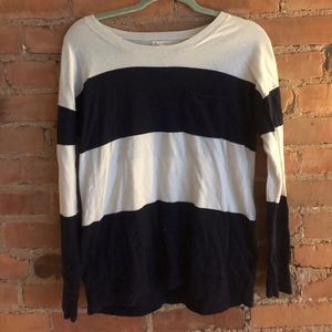 Nautical Blue and White Striped Sweater